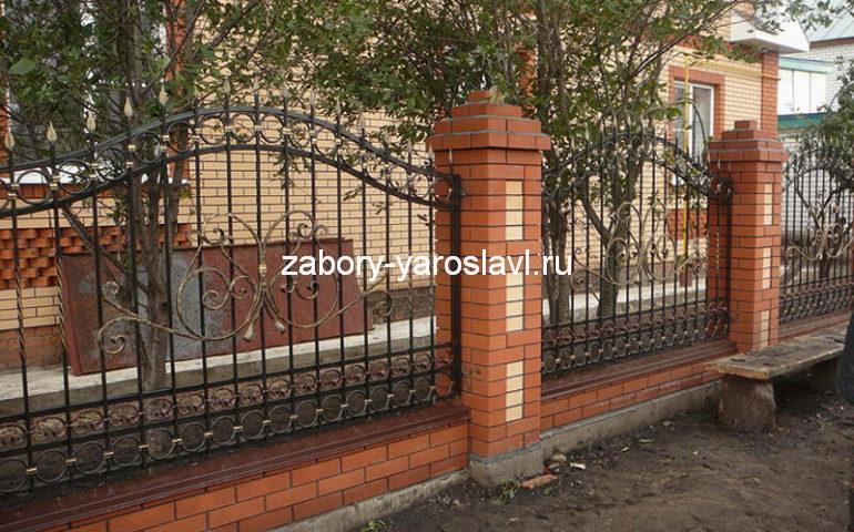 строительство заборов с ковкой в Ярославле