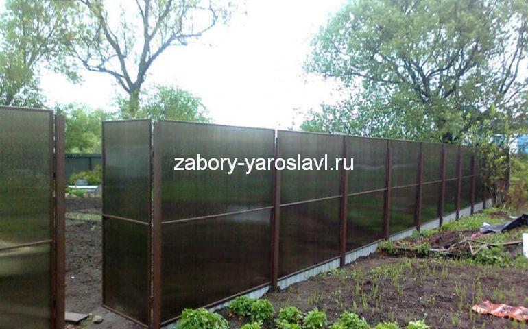 изготовление заборов из поликарбоната в Ярославле