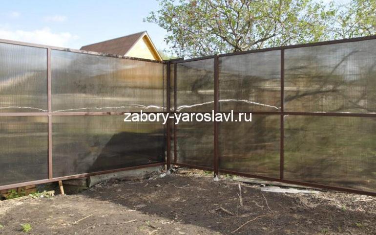 забор из поликарбоната в Ярославле