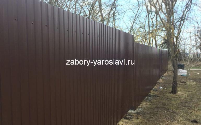 забор из профлиста в Ярославле